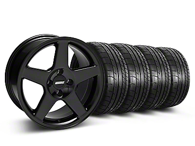 Black 2003 Style Cobra Wheel & Mickey Thompson Tire- 17x9 (87-93; Excludes 93 Cobra)
