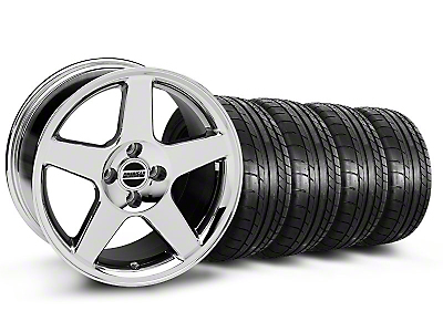 Chrome 2003 Style Cobra Wheel & Mickey Thompson Tire- 17x9 (87-93; Excludes 93 Cobra)