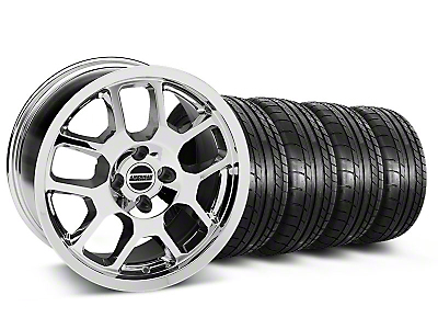 2007 GT500 Style Chrome Wheel & Mickey Thompson Tire Kit - 17x9 (87-93; Excludes 93 Cobra)