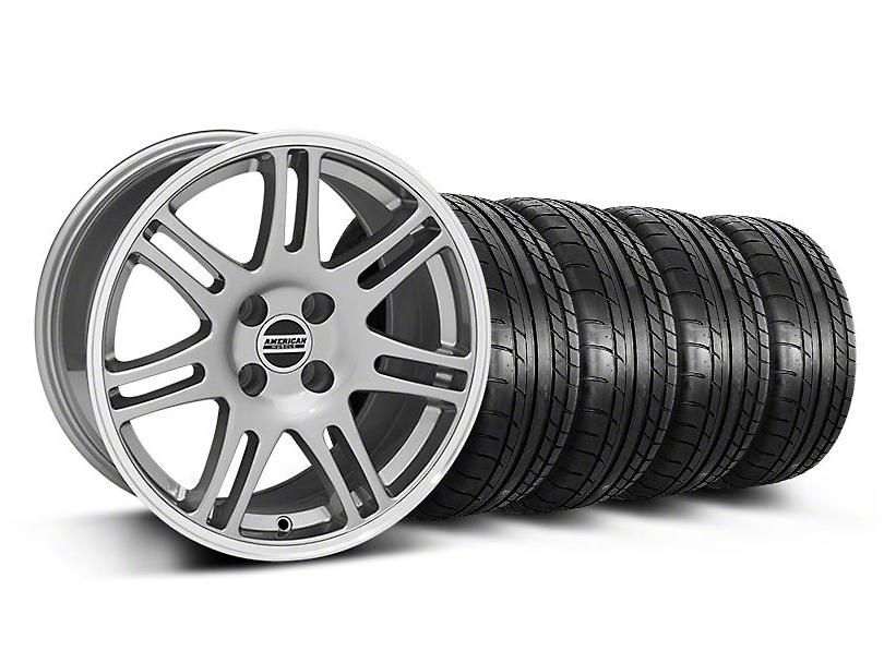 10th Anniversary Cobra Style Anthracite Wheel & Mickey Thompson Tire Kit - 17x9 (87-93; Excludes 93 Cobra)