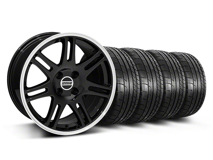 10th Anniversary Cobra Style Black Wheel & Mickey Thompson Tire Kit - 17x9 (87-93; Excludes 93 Cobra)