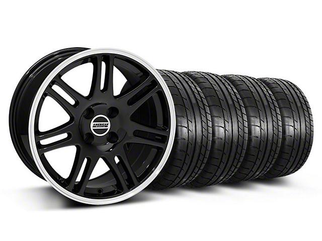 10th Anniversary Cobra Style Black Wheel & Mickey Thompson Tire Kit - 17x9 (87-93; Excludes 93 Cobra)