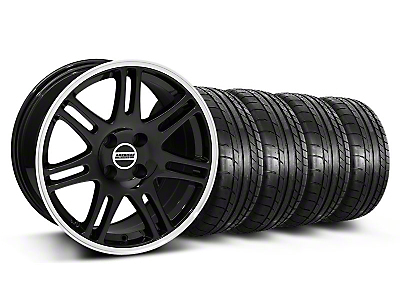 Black 10th Anniversary Cobra Style Wheel & Mickey Thompson Tire Kit- 17x9 (87-93; Excludes 93 Cobra)
