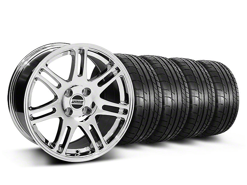 10th Anniversary Cobra Style Chrome Wheel & Mickey Thompson Tire Kit - 17x9 (87-93; Excludes 93 Cobra)