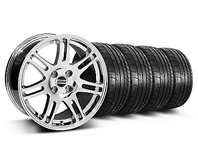 10th Anniversary Cobra Chrome Wheel & Mickey Thompson Tire Kit - 17x9 (87-93; Excludes 93 Cobra)