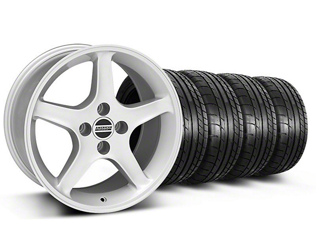 1995 Cobra R Style Silver Wheel & Mickey Thompson Tire Kit - 17x9 (87-93; Excludes 93 Cobra)