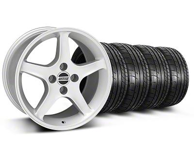 1995 Cobra R Style Silver Wheel & Mickey Thompson Tire Kit - 17x9 (87-93; Excludes 93 Cobra)