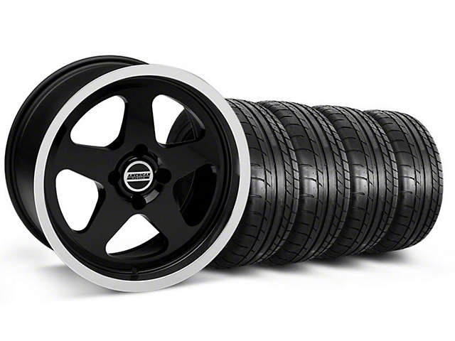 SC Style Black Wheel & Mickey Thompson Tire Kit - 17x9 (87-93; Excludes 93 Cobra)