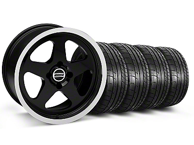 SC Black Wheel & Mickey Thompson Tire Kit - 17x9 (87-93; Excludes 93 Cobra)