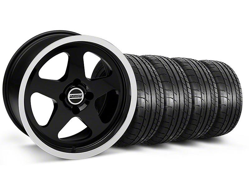 SC Style Black Wheel & Mickey Thompson Tire Kit - 17x9 (87-93; Excludes 93 Cobra)