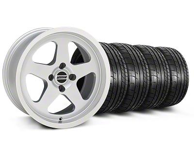 SC Style Silver Wheel & Mickey Thompson Tire Kit - 17x9 (87-93; Excludes 93 Cobra)