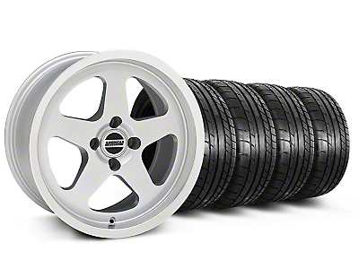 Silver SC Style Wheel & Mickey Thompson Tire Kit- 17x9 (87-93; Excludes 93 Cobra)