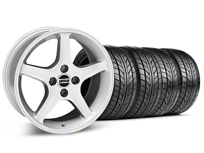 1995 Cobra R Style Silver Wheel & NITTO Tire Kit - 17x8/9 (87-93; Excludes 93 Cobra)
