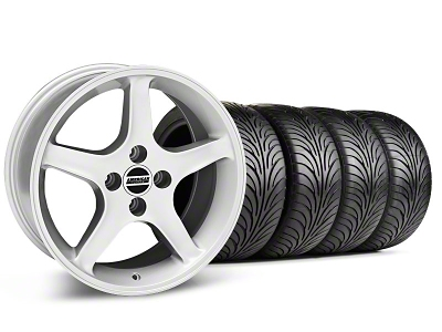 Staggered 1995 Cobra R Style Silver Wheel & Sumitomo Tire Kit - 17x8/9 (87-93; Excludes 93 Cobra)