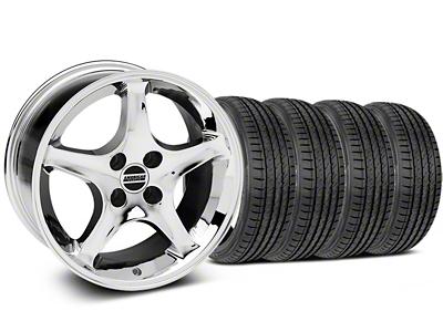 Staggered 1995 Cobra R Style Chrome Wheel & Sumitomo Tire Kit - 17x8/9 (87-93; Excludes 93 Cobra)