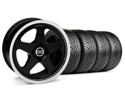 Staggered SC Black Wheel & Sumitomo Tire Kit - 17x8/10 (87-93; Excludes 93 Cobra)