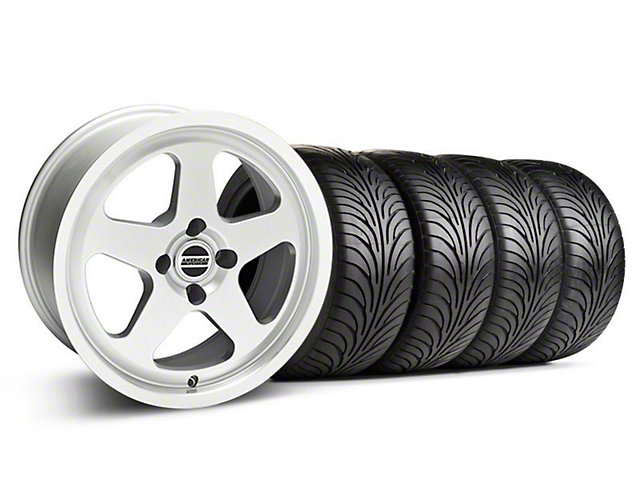Staggered SC Silver Wheel & Sumitomo Tire Kit - 17x8/10 (87-93; Excludes 93 Cobra)