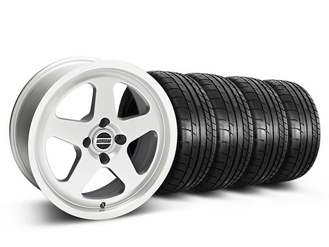 Staggered SC Silver Wheel & Mickey Thompson Tire Kit - 17x8/9 (87-93; Excludes 93 Cobra)