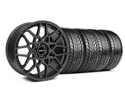 Charcoal 2013 GT500 Style Wheel & NITTO Tire Kit - 18x9 (05-14 All)