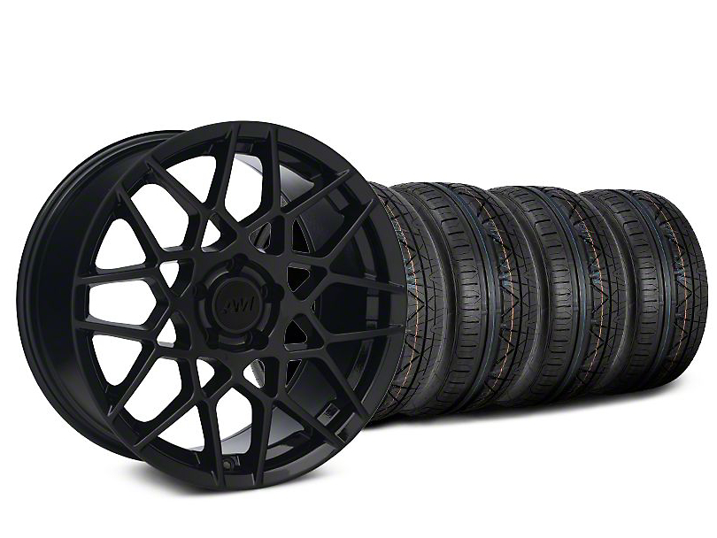 2013 GT500 Style Gloss Black Wheel & NITTO INVO Tire Kit - 18x9 (05-14 All)