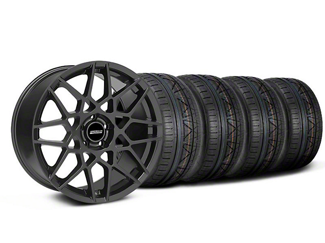 2013 GT500 Style Charcoal Wheel & NITTO INVO Tire Kit - 18x9 (05-14 All)