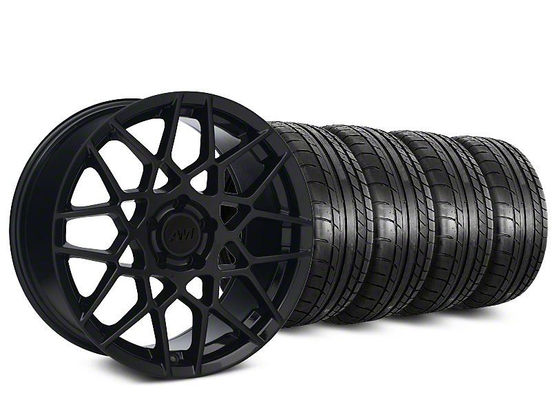 2013 GT500 Style Gloss Black Wheel & Mickey Thompson Tire Kit - 18x9 (05-14 All)