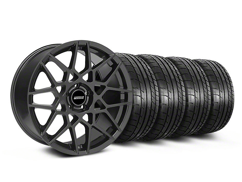 2013 GT500 Style Charcoal Wheel & Mickey Thompson Tire Kit - 18x9 (05-14 All)