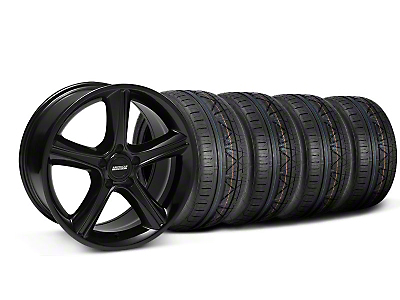 Black 2010 GT Premium Style Mustang Wheel & NITTO INVO Tire Kit - 18x9 (05-14 GT, V6)