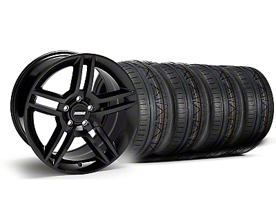2010 GT500 Black Wheel & NITTO INVO Tire Kit - 18x9 (05-14 All)