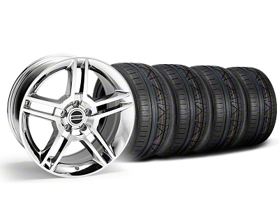 2010 GT500 Style Chrome Wheel & NITTO INVO Tire Kit - 18x9 (05-14 All)