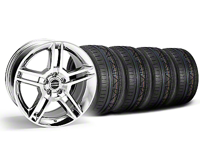 Chrome 2010 GT500 Style Mustang Wheel & NITTO INVO Tire Kit - 18x9 (05-14 All)