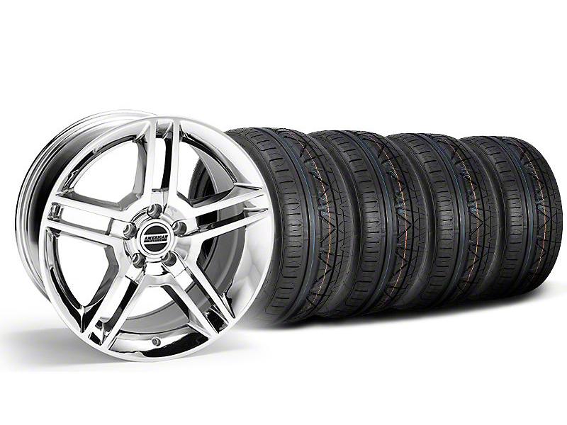 2010 GT500 Style Chrome Wheel & NITTO INVO Tire Kit - 18x9 (05-14 All)