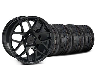 AMR Black Wheel & NITTO INVO Tire Kit - 18x9 (05-14 All)