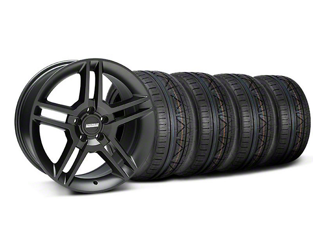 2010 GT500 Style Matte Black Wheel & NITTO INVO Tire Kit - 18x9 (05-14 All)