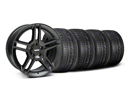 Matte Black 2010 Style GT500 Wheel & NITTO INVO Tire Kit - 18x9 (05-14 All)