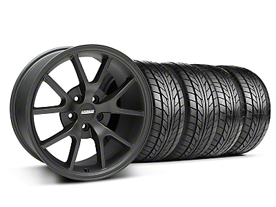 FR500 Matte Black Wheel & NITTO Tire Kit - 18x9 (05-14 All)