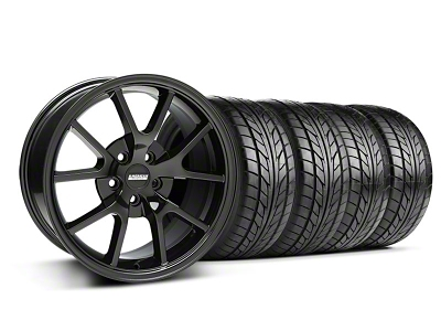 FR500 Style Solid Black Wheel & NITTO Tire Kit - 18x9 (05-14 All)