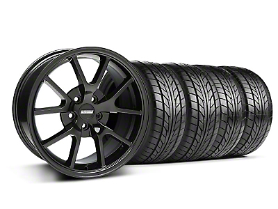FR500 Solid Black Wheel & NITTO Tire Kit - 18x9 (05-14 All)