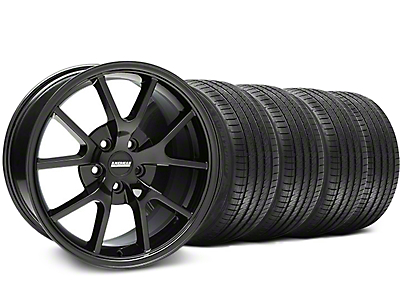 FR500 Solid Black Wheel & Sumitomo Tire Kit - 18x9 (05-14 All)