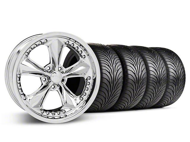 Foose Nitrous Chrome Wheel & Sumitomo Tire Kit - 18x9 (05-14 GT, V6)