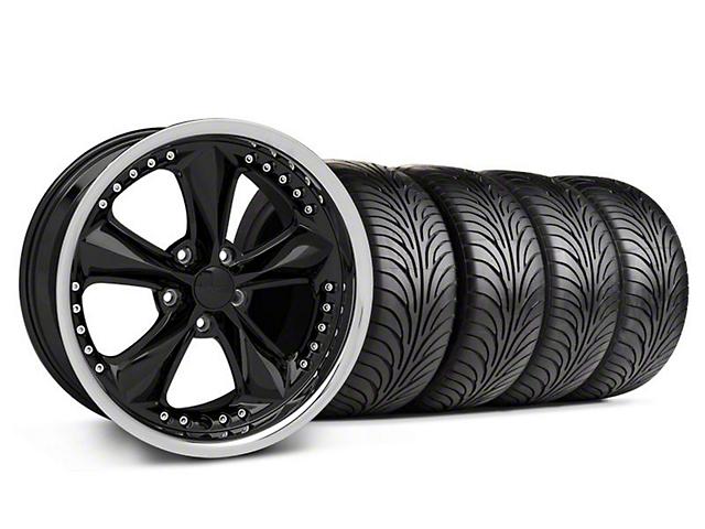 Foose Nitrous Black Wheel & Sumitomo Tire Kit - 18x9 (05-14 GT, V6)
