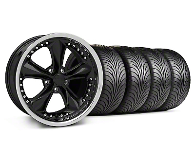Black Foose Nitrous Wheel & Sumitomo Tire Kit - 18x9 (05-14 GT, V6)