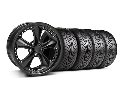 Foose Nitrous Matte Black Wheel & Sumitomo Tire Kit - 18x9 (05-14 GT, V6)