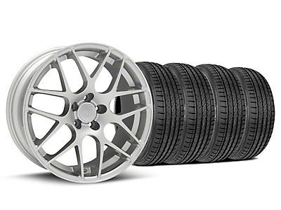 Silver AMR Style Wheel & Sumitomo Tire Kit - 19x8.5 (05-14 All)