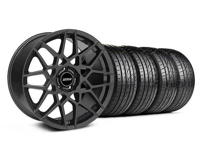 2013 GT500 Style Charcoal Wheel & Sumitomo Tire Kit - 19x8.5 (05-14 GT, V6)