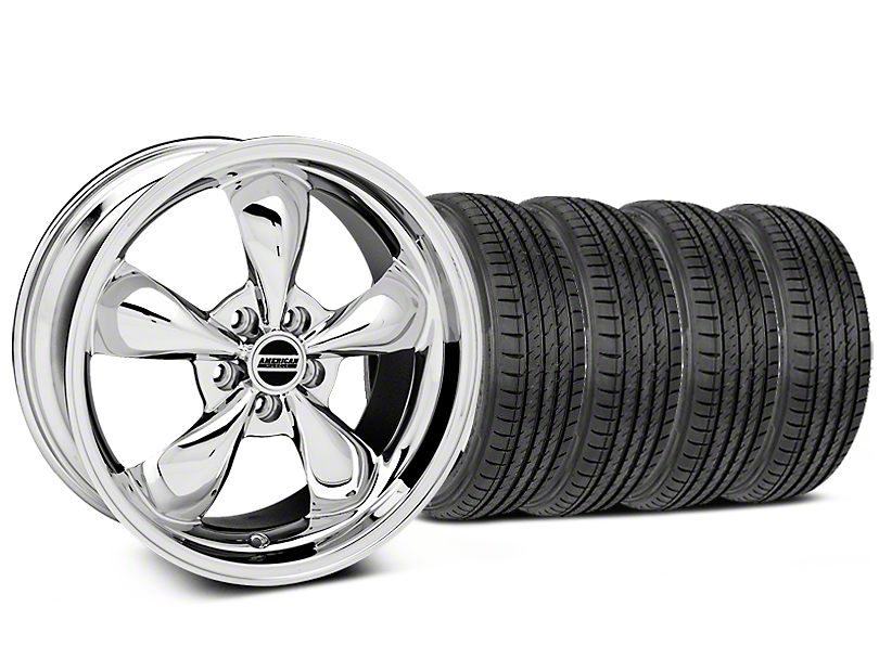 Deep Dish Bullitt Chrome Wheel & Sumitomo Tire Kit - 19x8.5 (05-14 GT, V6)