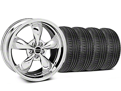 Chrome Deep Dish Bullitt Mustang Wheel & Sumitomo Tire Kit - 19x8.5 (05-14 GT, V6)