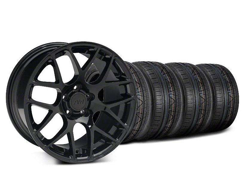 AMR Black Wheel & NITTO INVO Tire Kit - 19x8.5 (05-14 All)