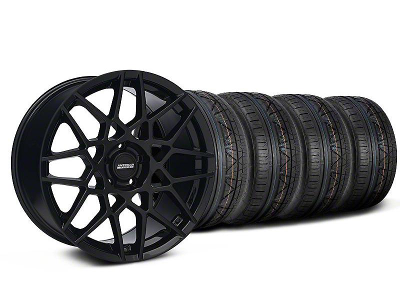 2013 GT500 Gloss Black Wheel & NITTO INVO Tire Kit - 19x8.5 (05-14 GT, V6)