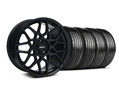 2013 GT500 Gloss Black Wheel & Pirelli Tire Kit - 19x8.5 (05-14 GT, V6)